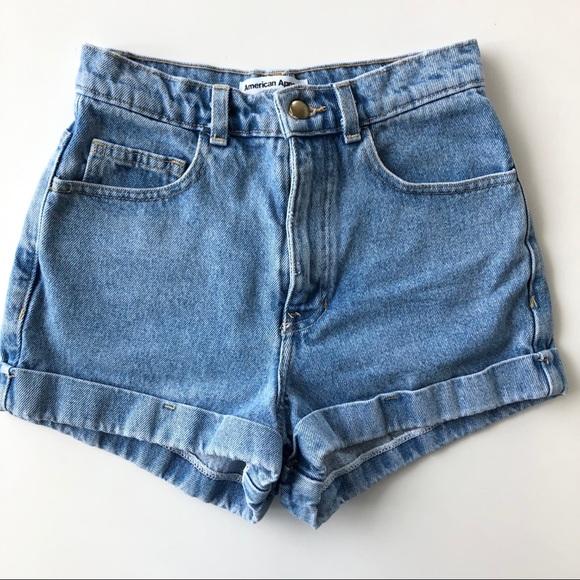 751bf9f6c2 American Apparel Shorts | Denim Highwaist Cuff Short W24 | Poshmark